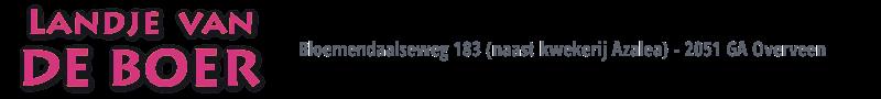 Landje van De Boer Logo